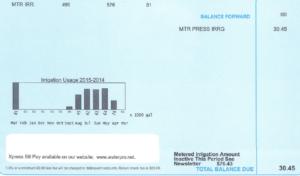 Metered PI Bill Sample